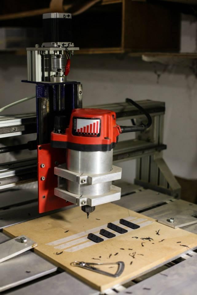 CNC na confecção dos captadores